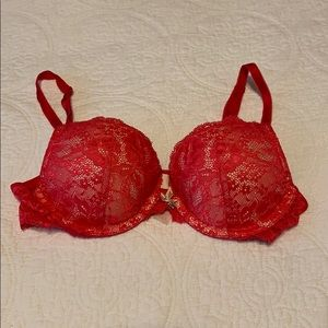 VS Hot Pink Lace Dream Angels Push Up
